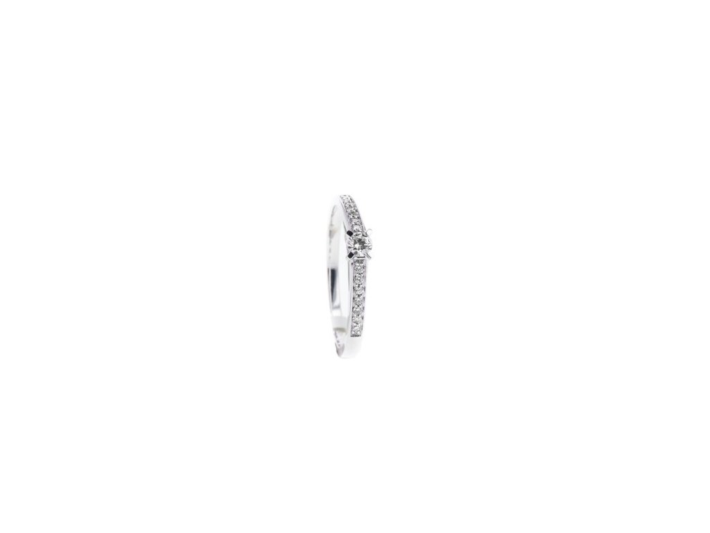 Prsten z bílého zlata s briliantem AUBR125 zlatnictvivymolovi.cz