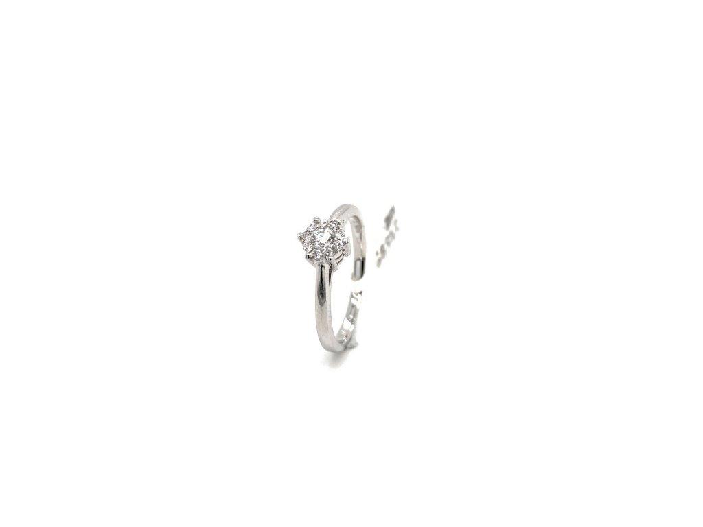 Prsten z bílého zlata s brilianty AUBR102 zlatnictvivymolovi.cz