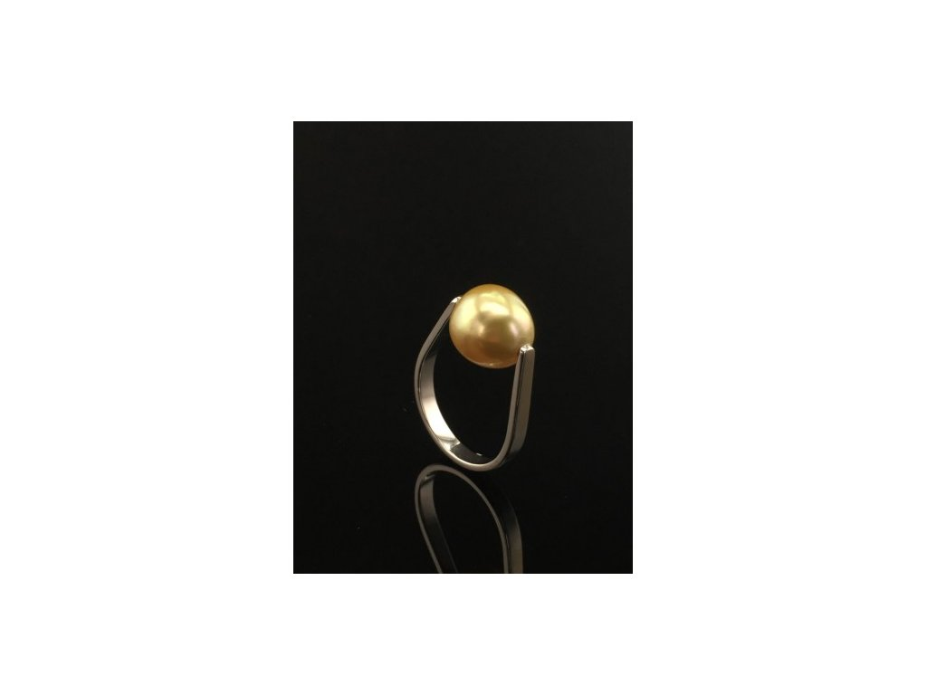 Prsten se zlatou perlou ZPAU1 Šperky JANN