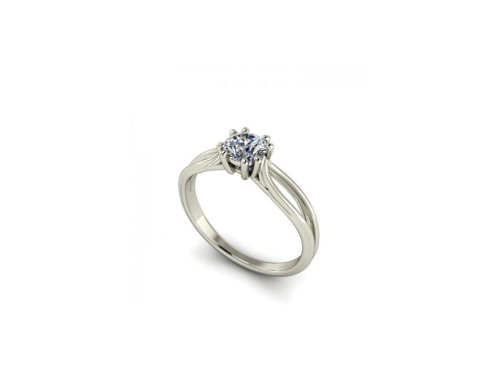 Prsten z bílého zlata se zirkonem SPJ41H Šperky JANN