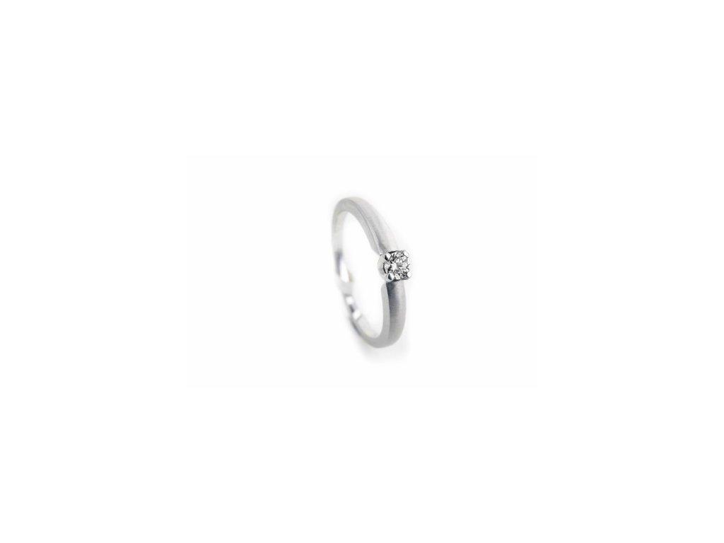 Prsten z bílého zlata s briliantem AUBR75 Šperky JANN