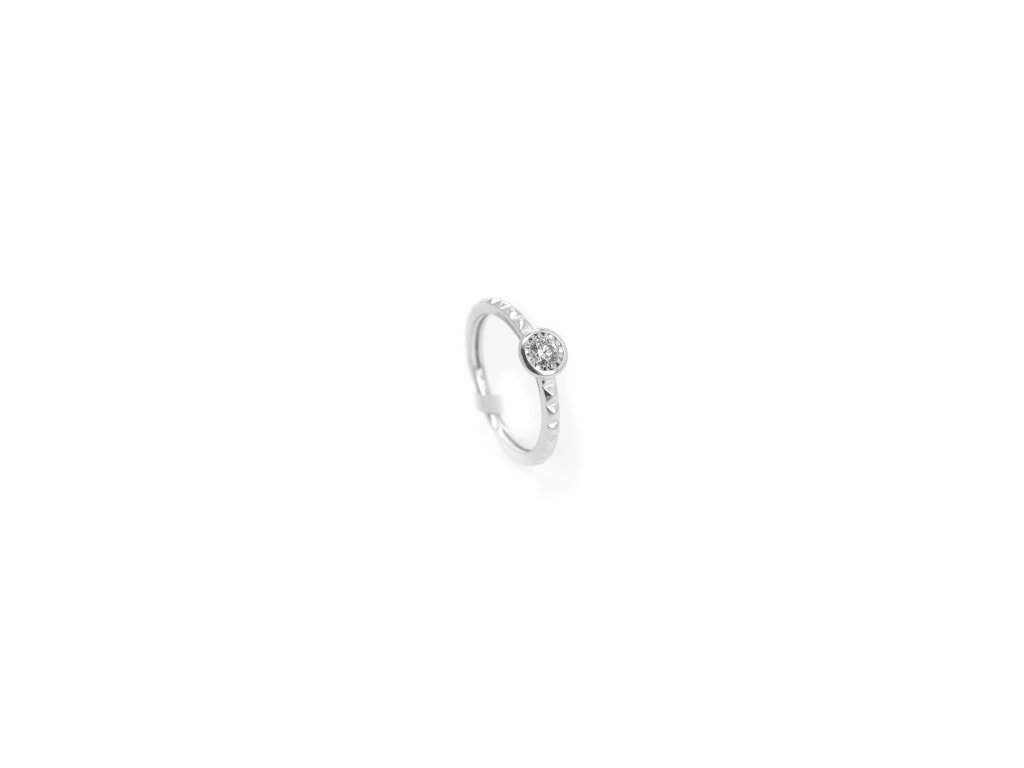 Prsten z bílého zlata s briliantem AUBR95 zlatnictvivymolovi.cz