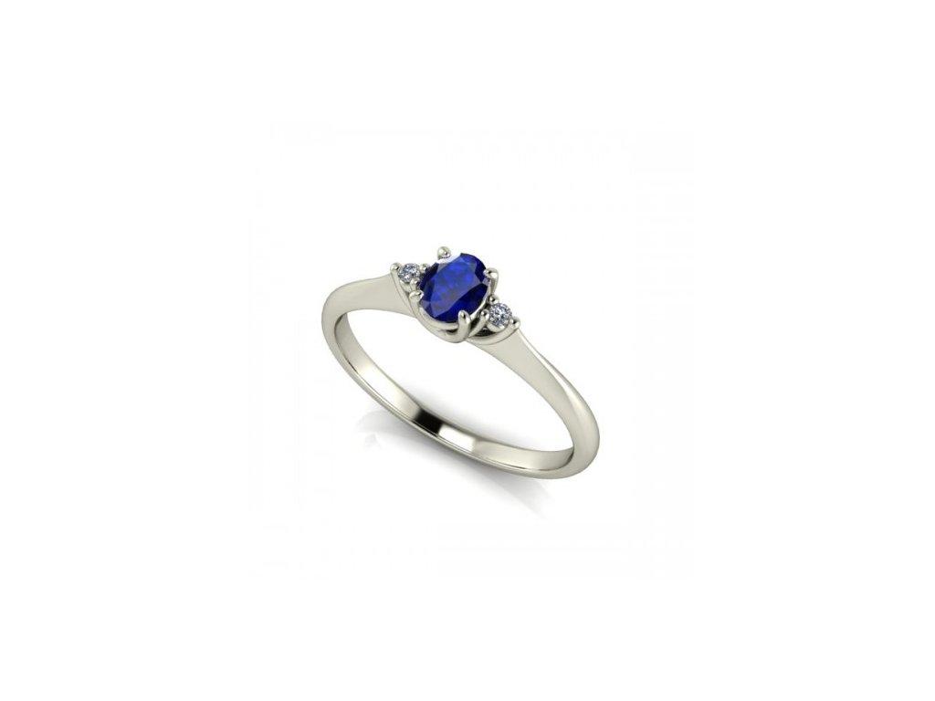 Prsten z bílého zlata se zirkonem SPJ10H Šperky JANN