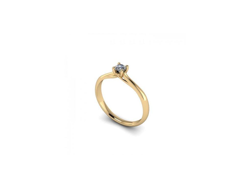 Prsten ze žlutého zlata se zirkonem SPJ40H Šperky JANN