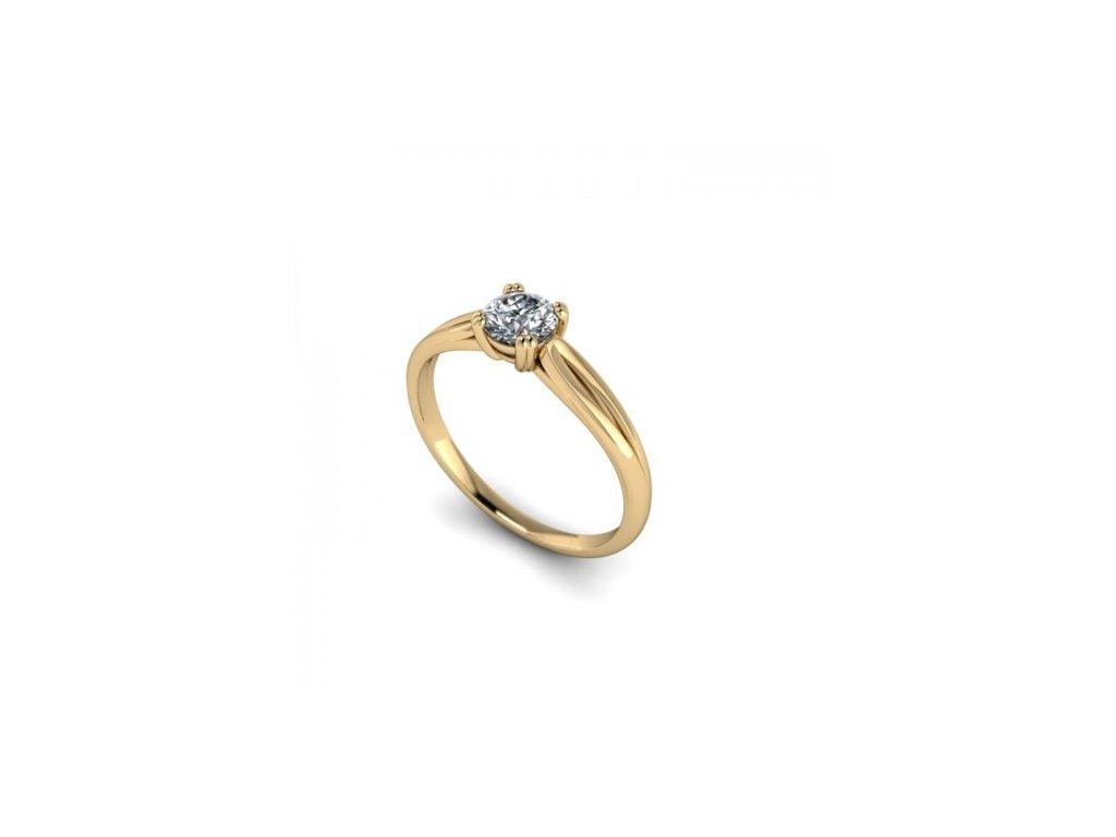 Prsten ze žlutého zlata se zirkonem SPJ42H Šperky JANN