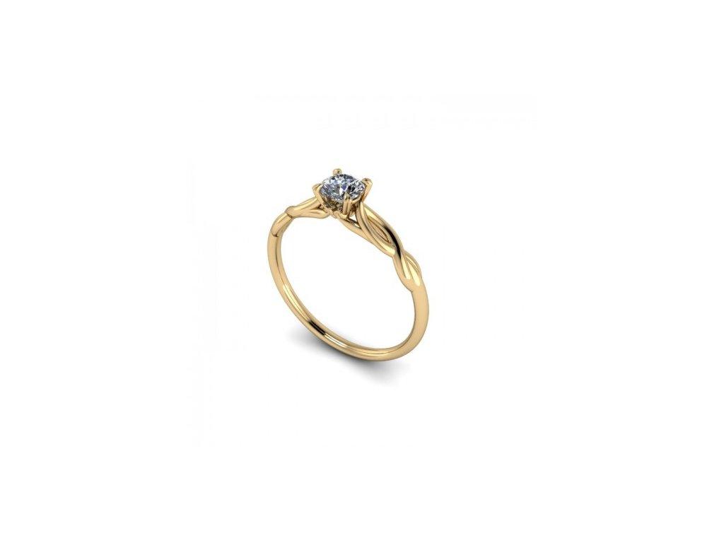 Prsten ze žlutého zlata se zirkonem SPJ46H Šperky JANN