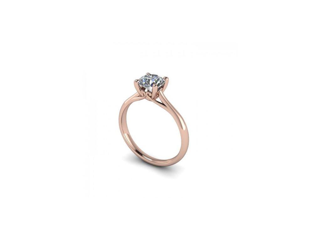 Prsten z růžového zlata se zirkonem SPJ34H Šperky JANN