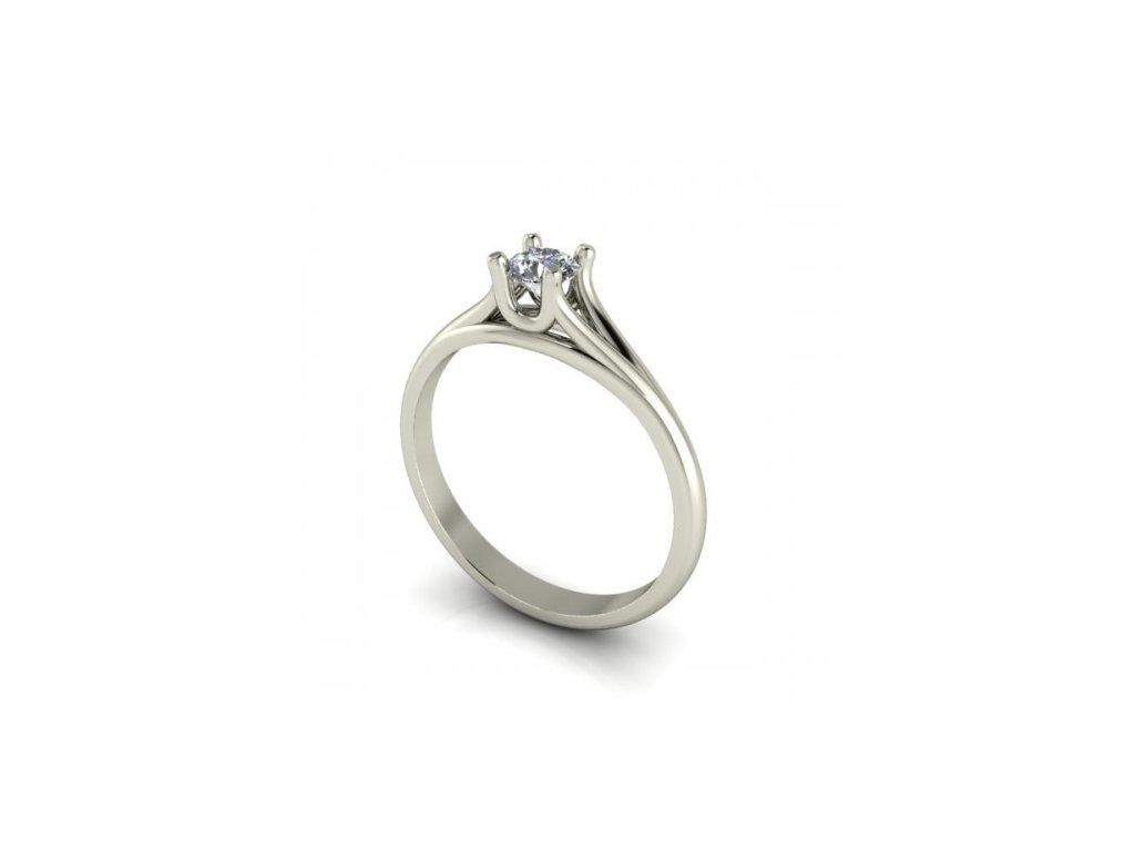 Prsten z bílého zlata s briliantem SPJ35HB Šperky JANN