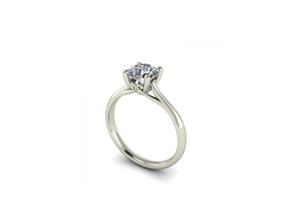 Prsten z bílého zlata se zirkonem SPJ34H Šperky JANN