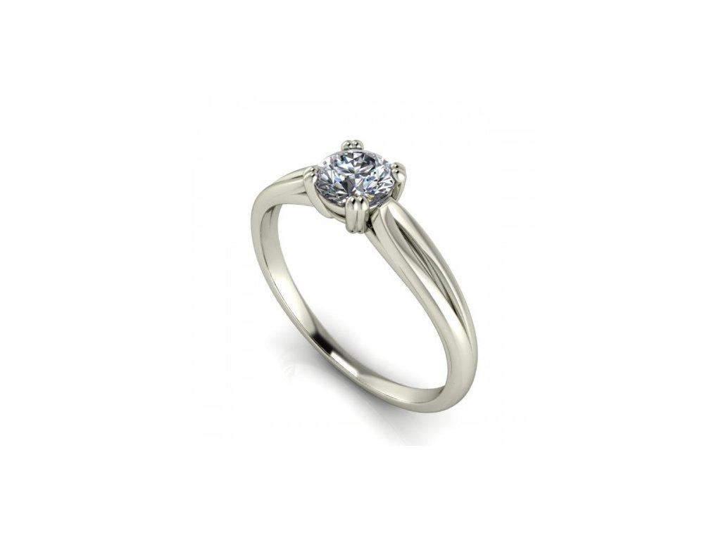 Prsten z bílého zlata se zirkonem SPJ42H Šperky JANN
