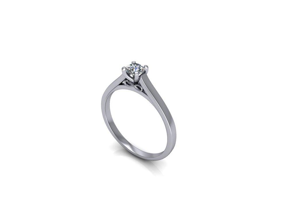 Platinový prsten s briliantem PT51H Šperky JANN