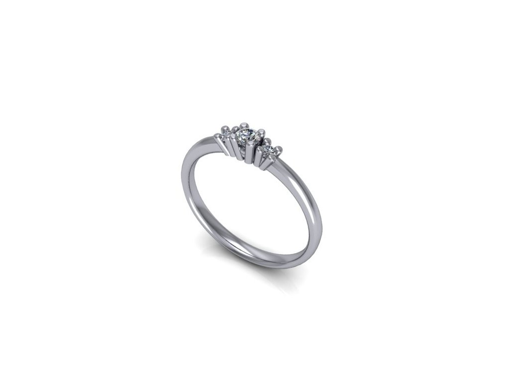 Platinový prsten z brilianty PT50H Šperky JANN