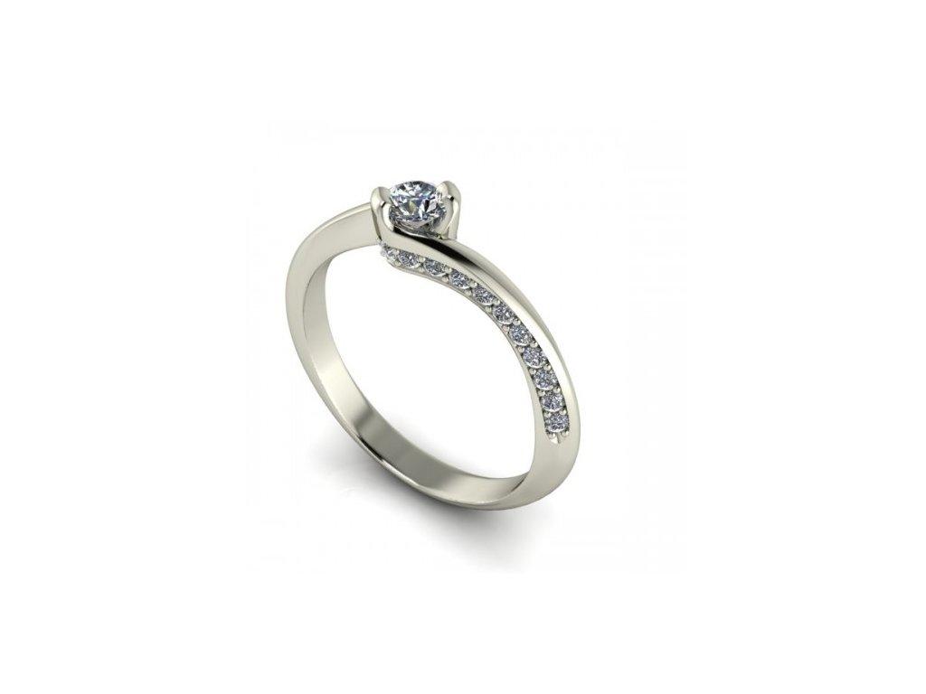 Prsten z bílého zlata se zirkonem SPJ36H Šperky JANN