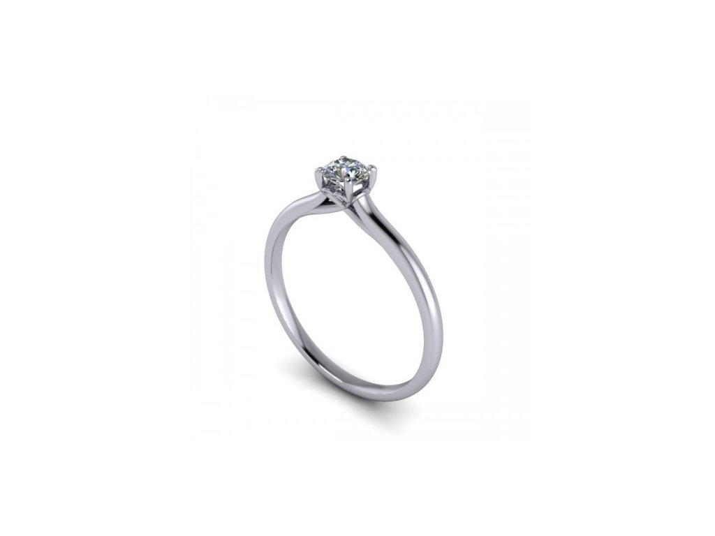 Prsten z bílého zlata se zirkonem SPJ38H Šperky JANN