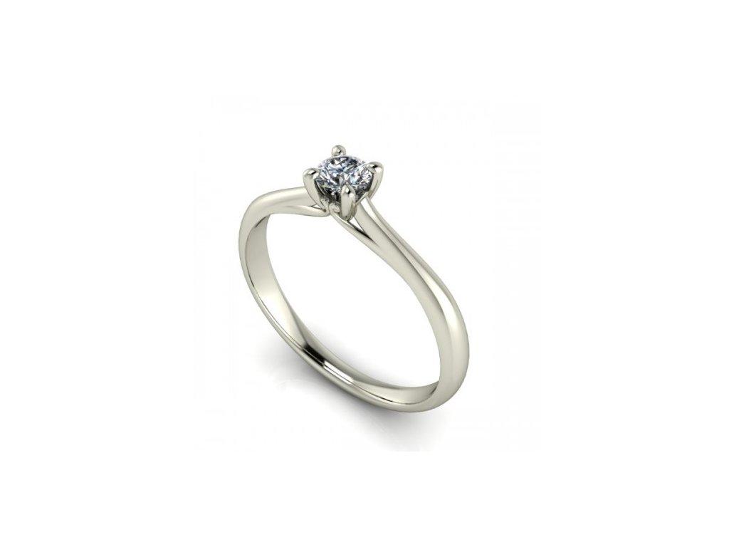 Prsten z bílého zlata se zirkonem SPJ40H Šperky JANN