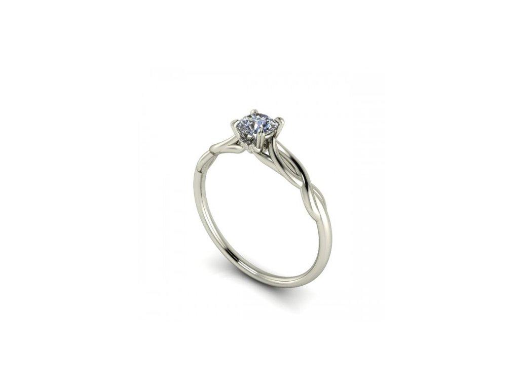 Prsten z bílého zlata se zirkonem SPJ46H Šperky JANN