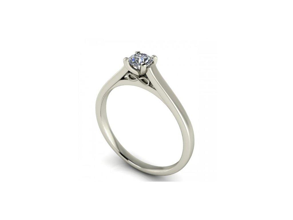 Prsten z bílého zlata se zirkonem SPJ51H Šperky JANN