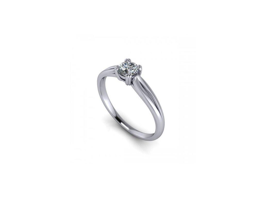 Platinový prsten s briliantem PT42H Šperky JANN