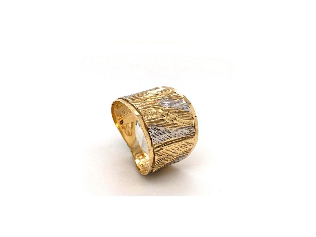 Dámský prsten ze žlutého a bílého zlata AUZ170 zlatnictvivymolovi.cz