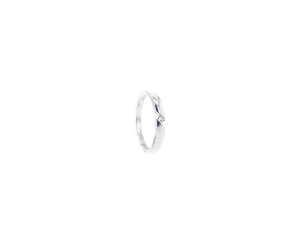 Dámský prsten z bílého zlata s briliantem AUBR129 zlatnictvivymolovi.cz