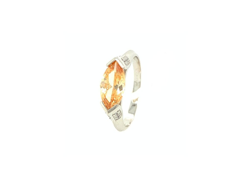 Dámský prsten z bílého zlata se zirkonem AUZ230 zlatnictvivymolovi.cz