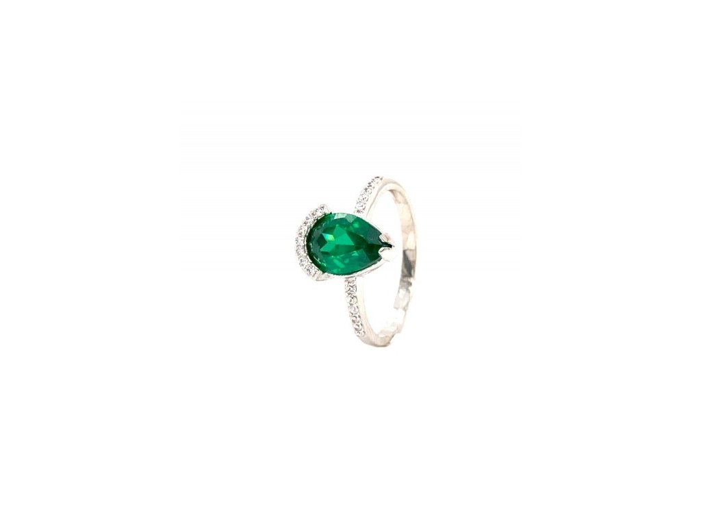 Dámský prsten z bílého zlata se zirkony AUZ222 zlatnictvivymolovi.cz