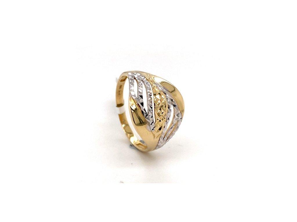 Dámský prsten ze žlutého a bílého zlata AUZ167 zlatnictvivymolovi.cz