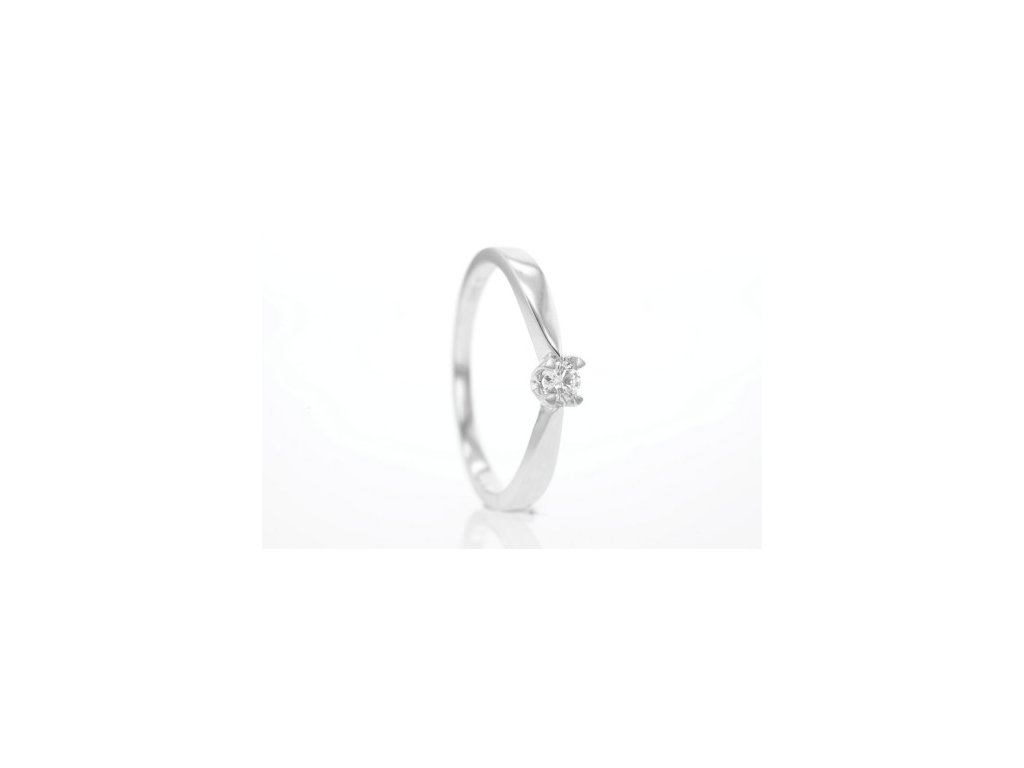 Prsten z bílého zlata s briliantem AUBR56 zlatnictvivymolovi.cz