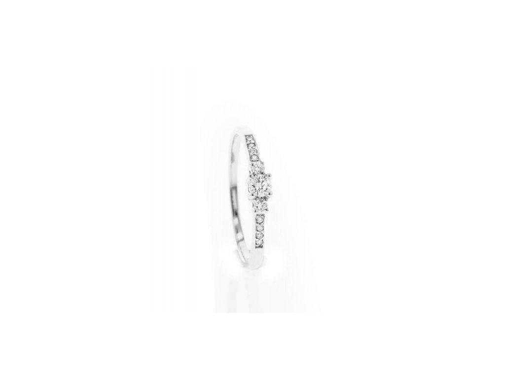 Prsten z bílého zlata s brilianty AUBR113 zlatnictvivymolovi.cz