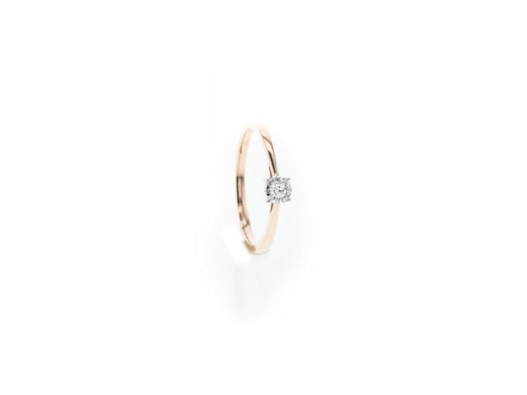 Prsten z růžového zlata s brilianty AUBR103 zlatnictvivymolovi.cz