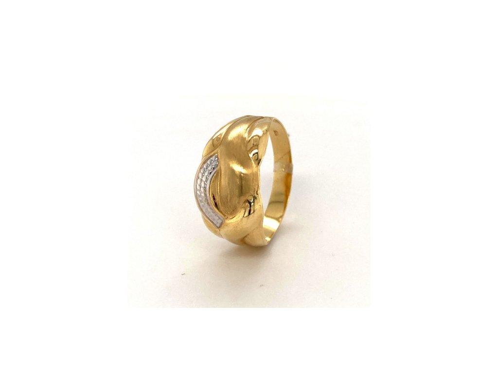 Dámský prsten ze žlutého a bílého zlata AUZ183 zlatnictvivymolovi.cz