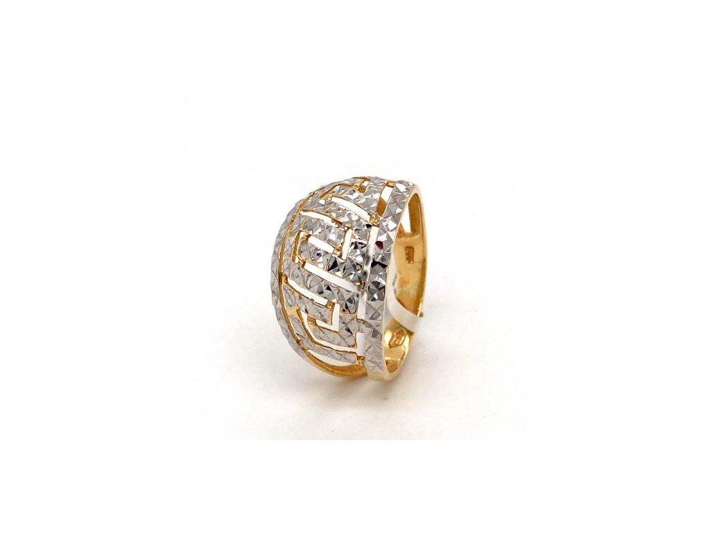 Dámský prsten ze žlutého a bílého zlata AUZ186 zlatnictvivymolovi.cz
