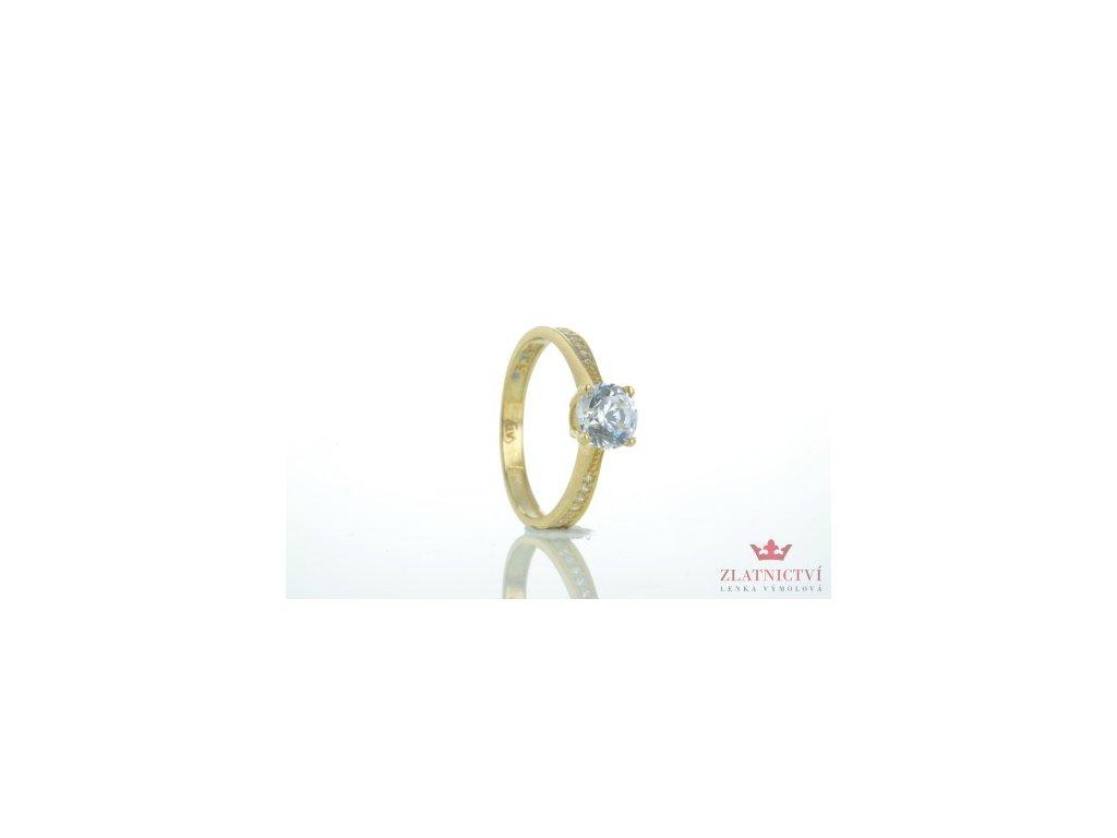 Dámský prsten ze žlutého zlata AUZ123 zlatnictvivymolovi.cz