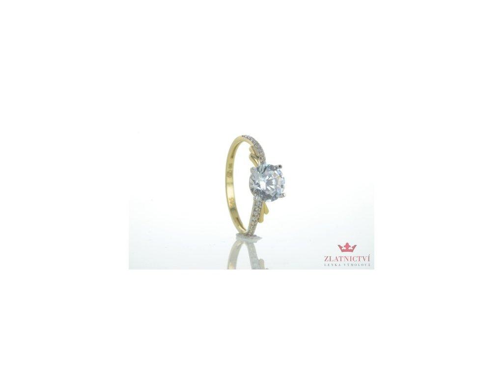 Dámský prsten ze žlutého zlata AUZ124 zlatnictvivymolovi.cz
