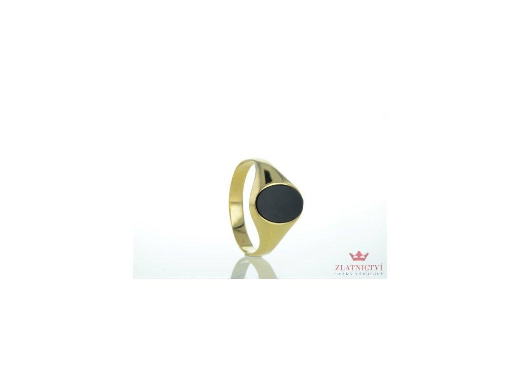 Pánský prsten ze žlutého zlata AUZPAN2 zlatnictvivymolovi.cz