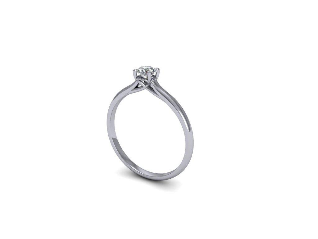Platinový prsten s briliantem PT38H Šperky JANN
