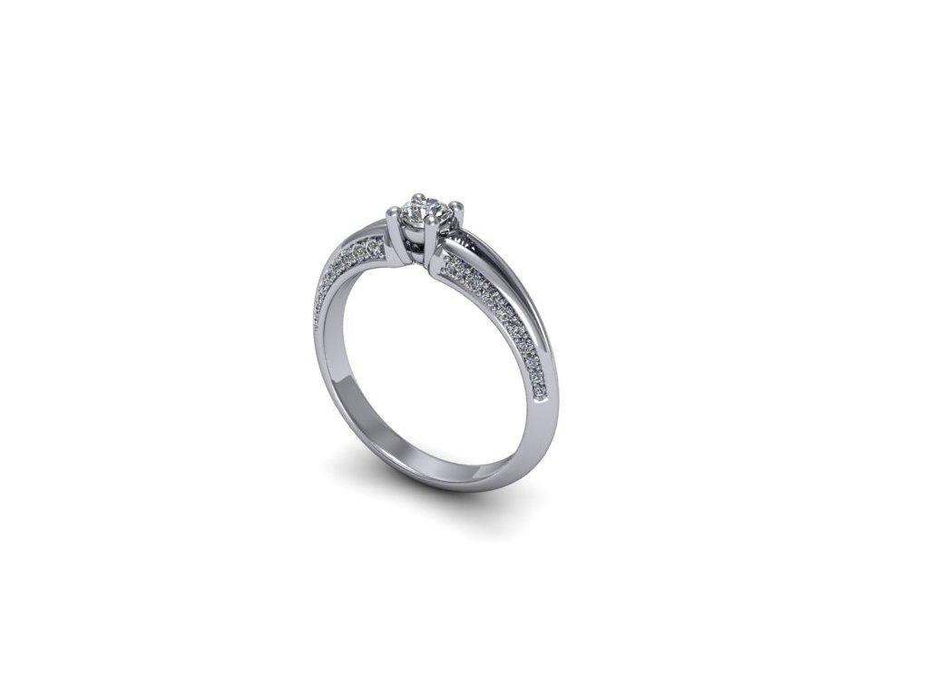 Platinový prsten s brilianty PT39H Šperky JANN