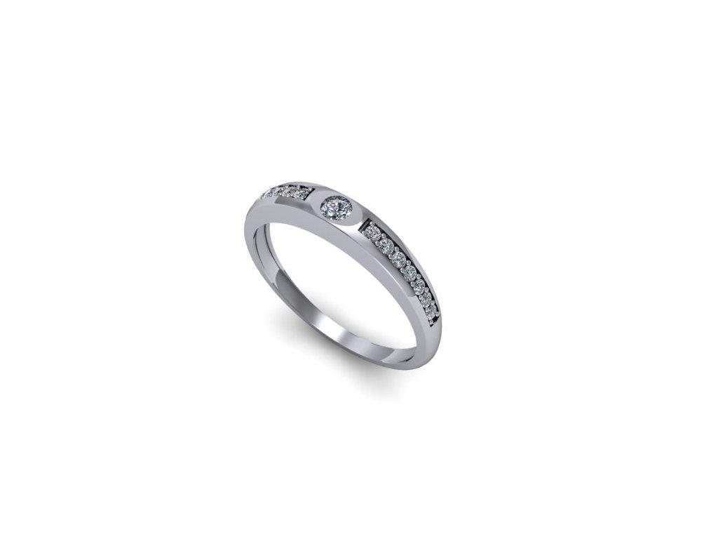 Platinový prsten s brilianty PT43H Šperky JANN