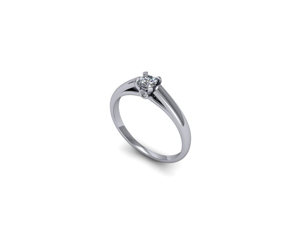 Platinový prsten s brilianty PT48H Šperky JANN