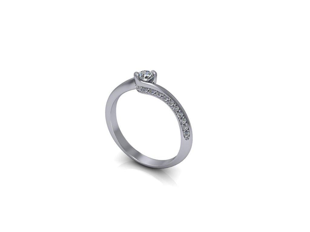 Platinový prsten z brilianty PT36H Šperky JANN