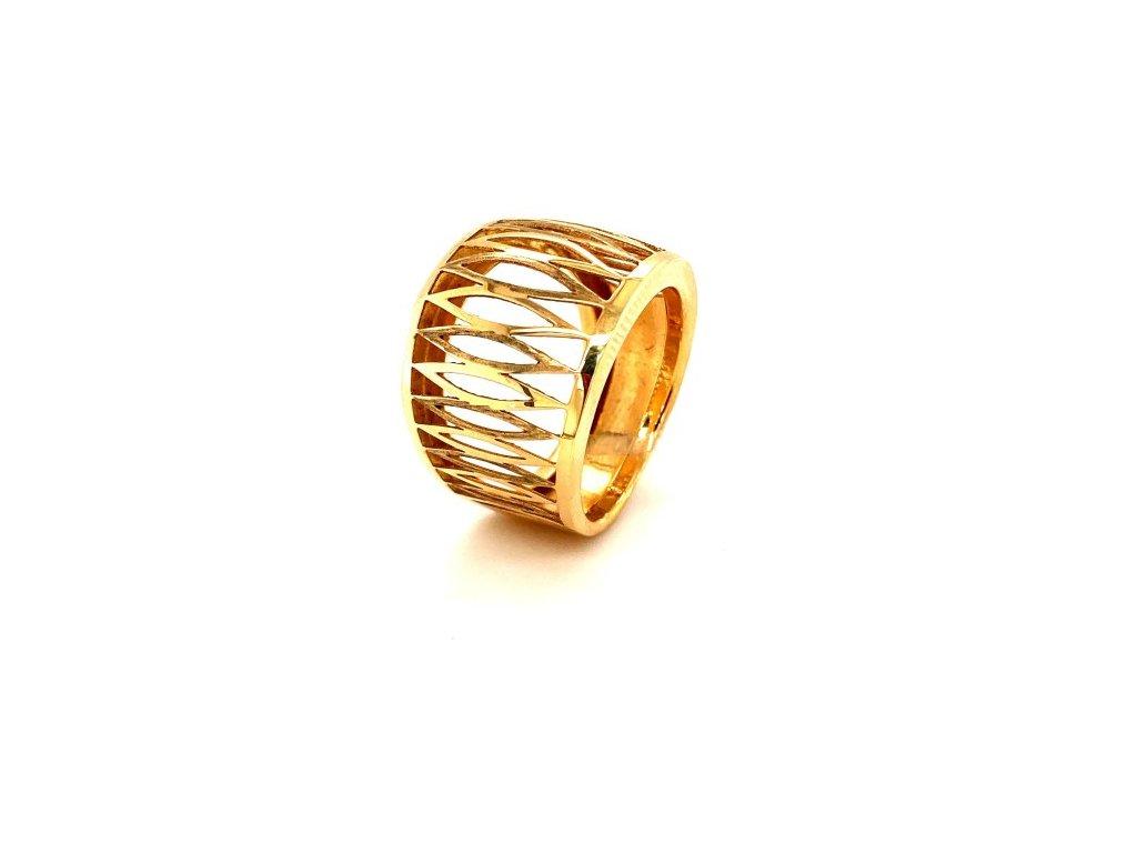 Dámský prsten ze žlutého zlata AUZ208 zlatnictvivymolovI.cz
