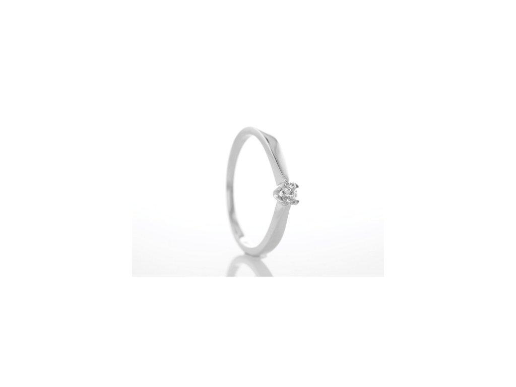 Prsten z bílého zlata s brilianty AUBR16 zlatnictvivymolovi.cz