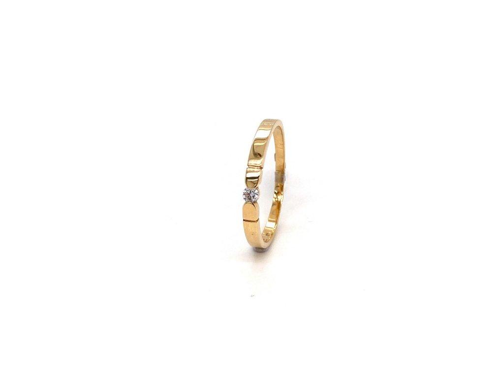 Dámský prsten ze žlutého zlata se zirkonem AUZ198 zlatnictvivymolovi.cz