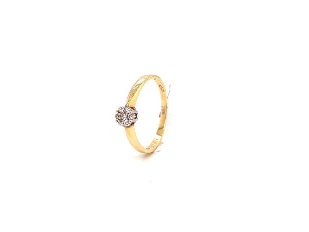 Dámský prsten ze žlutého zlata se zirkony AUZ207 zlatnictvivymolovi.cz