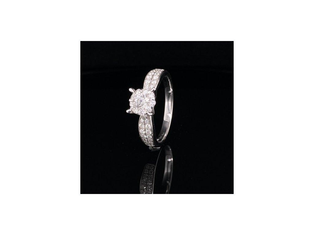 Prsten z bílého zlata s brilianty AUBR70 zlatnictvivymolovi.cz