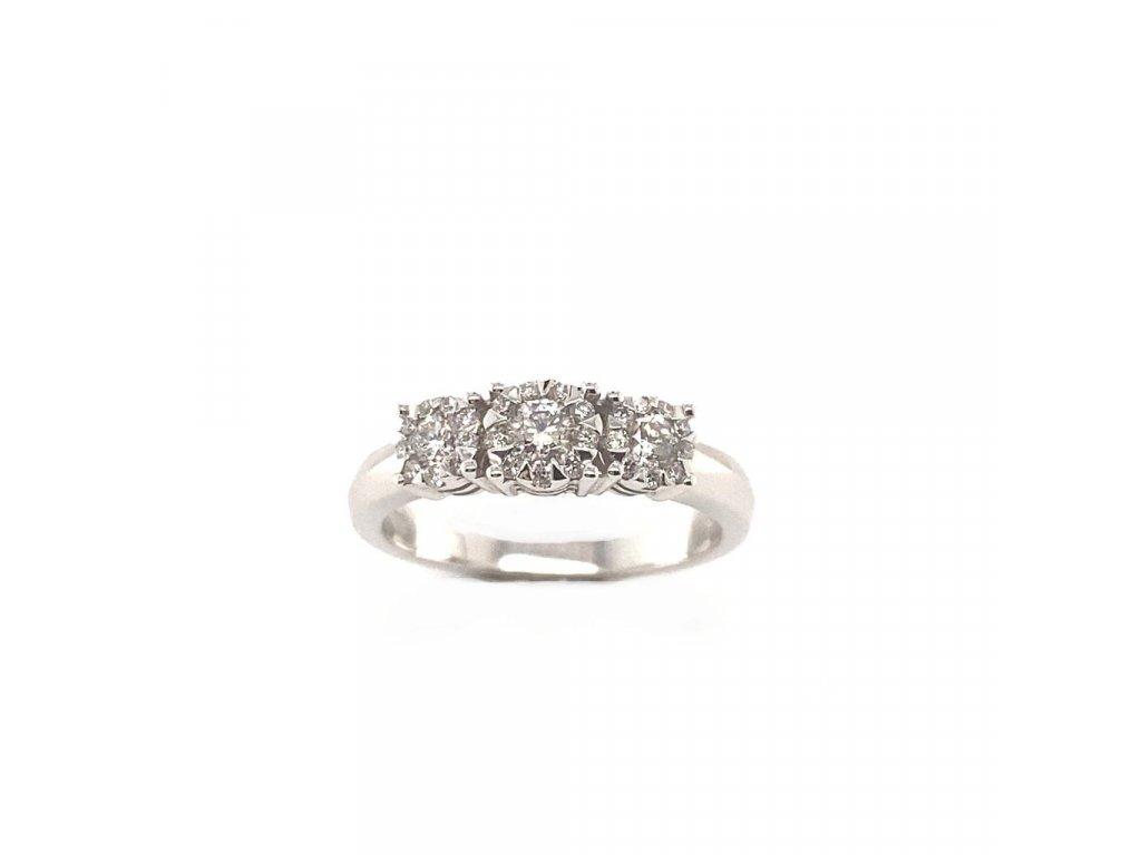 Prsten z bílého zlata s brilianty AUBR87 zlatnictvivymolovi.cz