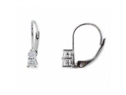 Dámské náušnice z bílého zlata s brilianty NAUBR79 Šperky JANN