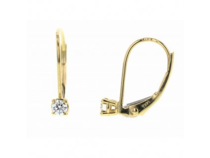 Dámské náušnice ze žlutého zlata s brilianty NAUBR77 Šperky JANN