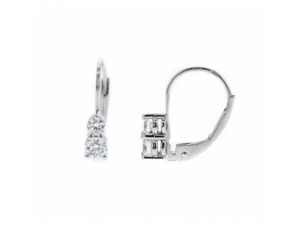 Náušnice z bílého zlata s brilianty NAUBR78 Šperky JANN