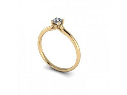Prsten ze žlutého zlata se zirkonem SPJ38H Šperky JANN